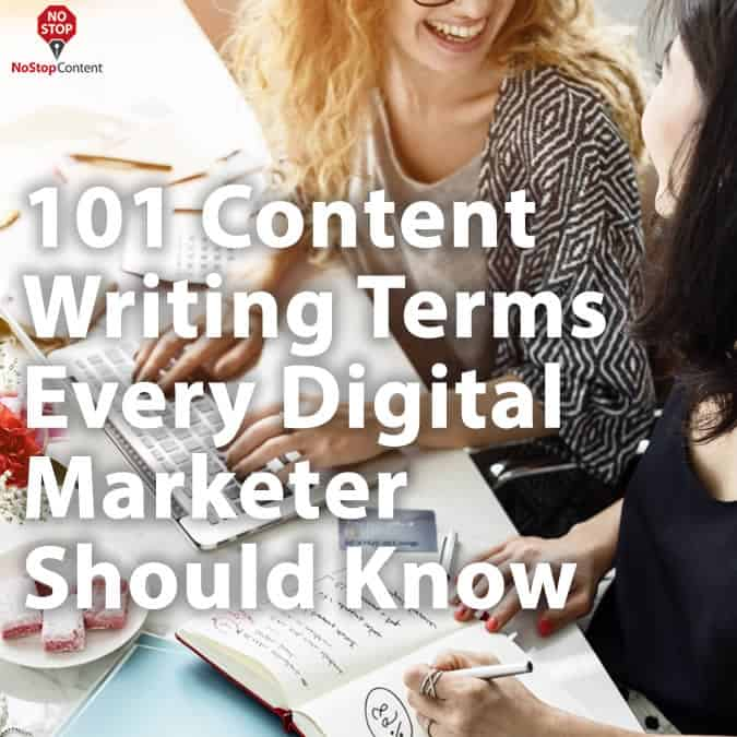 101 Content Writing Terms