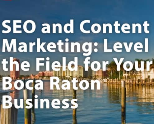 SEO and Content Marketing Boca Raton